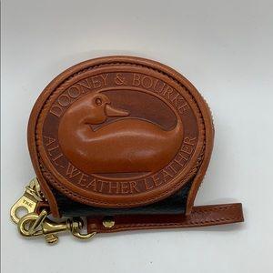 Dooney & Bourke Duck change purse black and brown